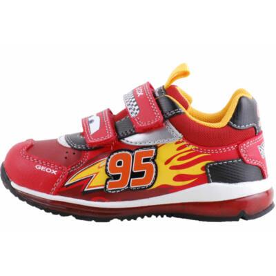 Piros verdás, világítós, lélegző talpú, Geox cipő