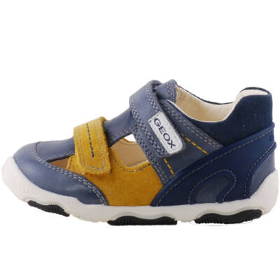 Kék-mustár, lélegző talpú, Geox szandálcipő
