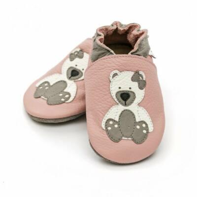 Rózsaszín, fehér macis Liliputi puhatalpú cipő (S)