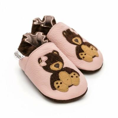 Rózsaszín, macis Liliputi puhatalpú cipő (S)