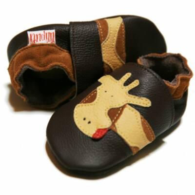 Barna, zsiráfos, Liliputi puhatalpú cipő (M)