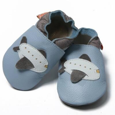 Liliputi világoskék, repülős, bőr puhatalpú cipő
