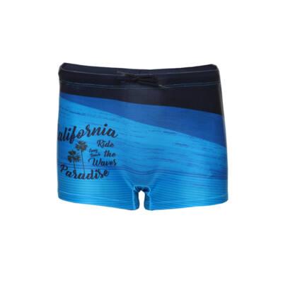 Losan kék pálmafás, fiú boxer fürdőnadrág (128)
