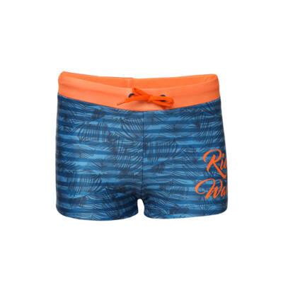 Losan kék-narancs, pálmafás, fiú boxer fürdőnadrág (128)