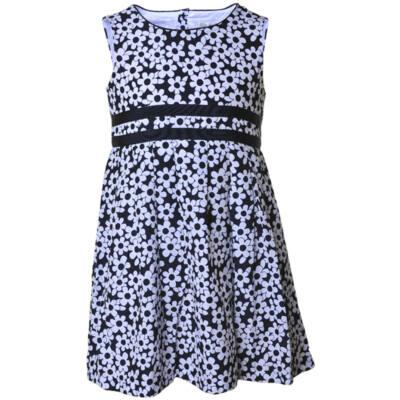 Losan sötétkék-fehér virágos nyári ruha (98) - Levendula gyerekcipő 7dec69a9ca