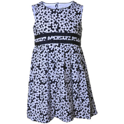 Losan sötétkék-fehér virágos nyári ruha (92)