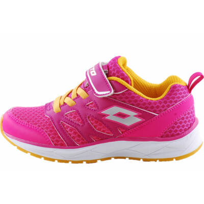 Pink-narancs, gumifűzős, tépőzáras, Lotto edzőcipő