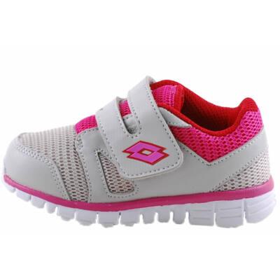 Szürke, pink, tépőzáras, Lotto edzőcipő