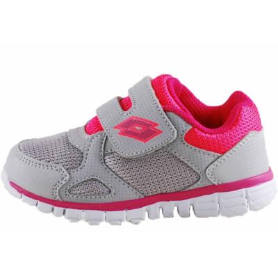 Szürke-pink, tépőzáras, kislány, Lotto edzőcipő