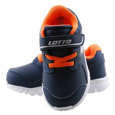 Sötétkék, narancs gumifűzős, Lotto edzőcipő