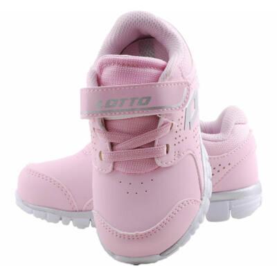 Rózsaszín gumifűzős, kislány, Lotto edzőcipő