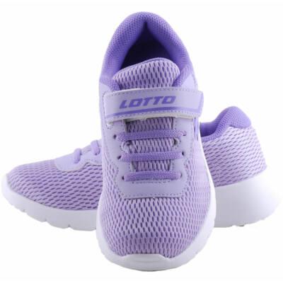 Lila gumifűzős, tépőzáras, könnyű, Lotto edzőcipő