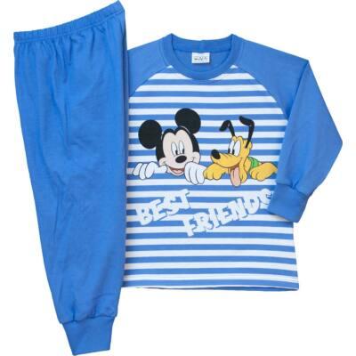 Pampress kék-fehér csíkos Mickey és Plutó hosszú ujjú pizsama ... 025f988bbc