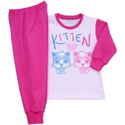Pampress rózsaszín-kék cicás pizsama