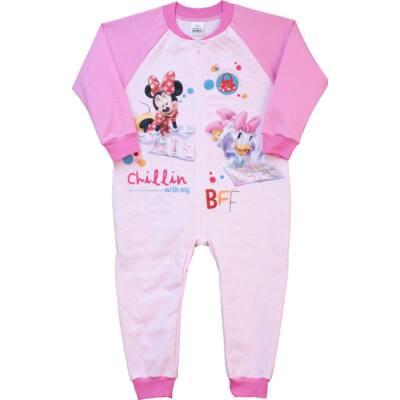 Pampress rózsaszín Minnie egeres, táskás kezeslábas gyerek pizsama