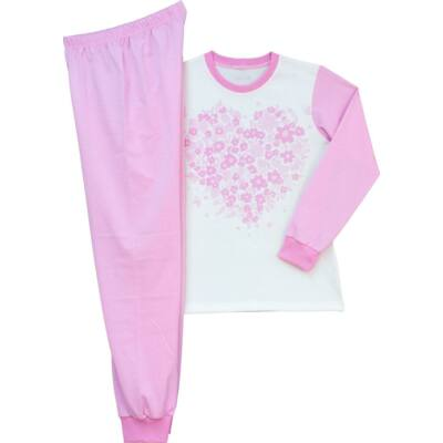 Rózsaszín virágos kislány pizsama