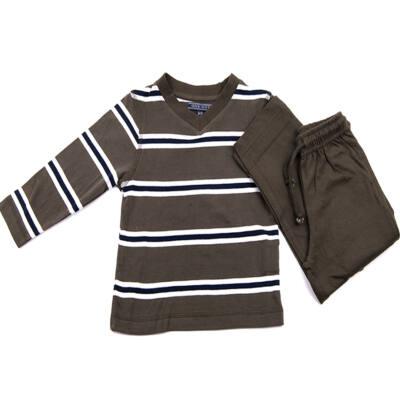 Oneway sötétzöld csíkos pizsama