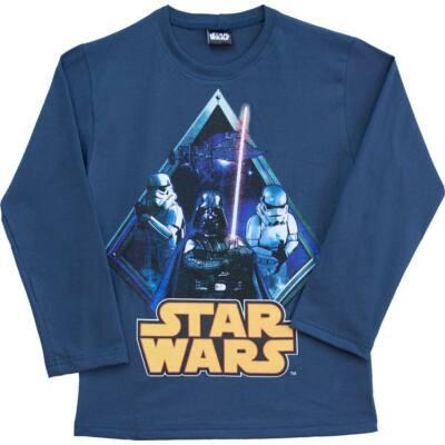 Pampress Star Wars-os kék hosszú ujjú felső