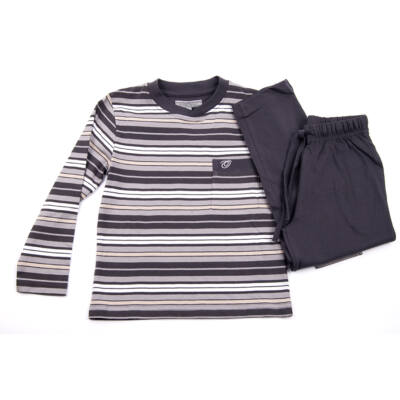 Oneway szürke-fehér csíkos pizsama