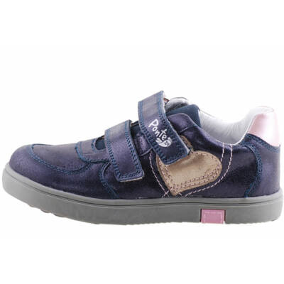 Kék-rózsaszín, szivecskés, Ponte 20 supinált cipő