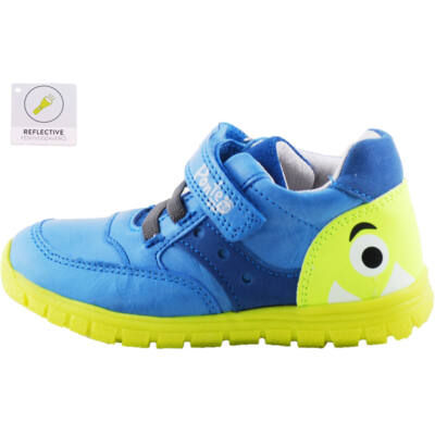 Kék, neon szörnyecskés, Ponte 20 supinált gyerekcipő