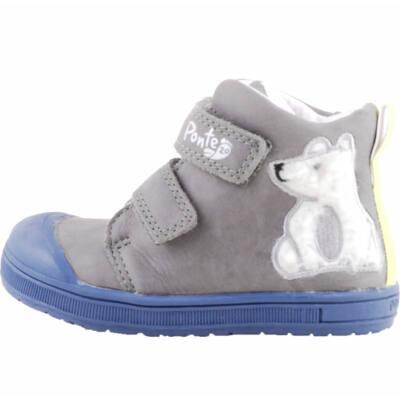 Szürke-kék, jegesmedvés, nagy gumi orrú, Ponte 20 supinált cipő