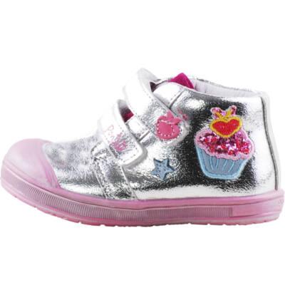 Ezüst, csillogó muffin-os, Ponte 20 supinált cipő