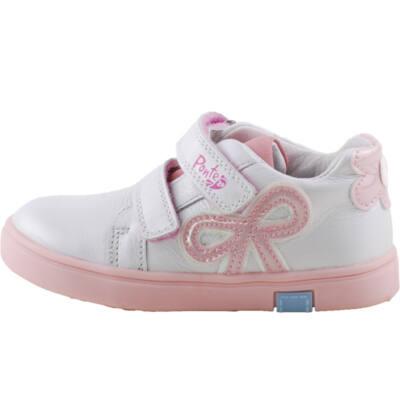 Gyöngyház, rózsaszín masnis, Ponte 20 supinált cipő