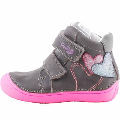 Szürke-pink, szívecskés, Ponte 20 supinált cipő