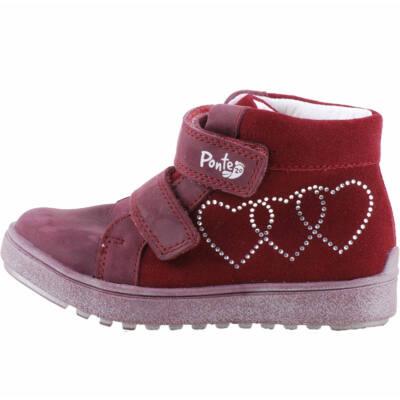 Bordó, szívecskés, flitteres, Ponte 20 supinált cipő