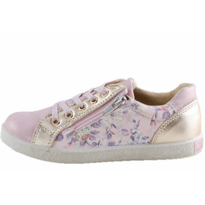 Rózsaszín-arany, rózsás, Primigi, cipzáras, fűzős cipő
