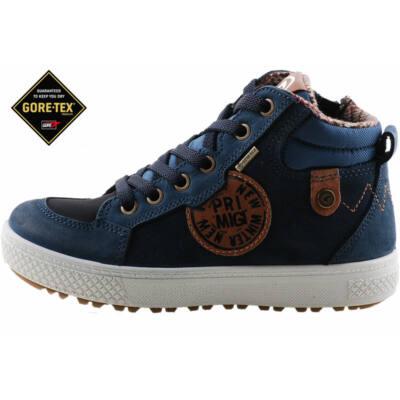 Sötétkék-barna, vízálló, Gore-Tex-es cipzáras-fűzős, Primigi cipő