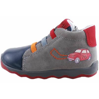 Szürke-kék, autós, gumifűzős, cipzáras, Primigi cipő