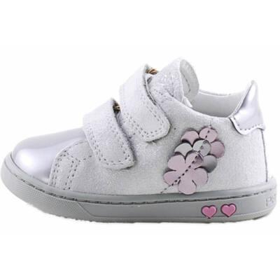 Ezüst, csillogó virágos, hajlékony talpú, Primigi cipő