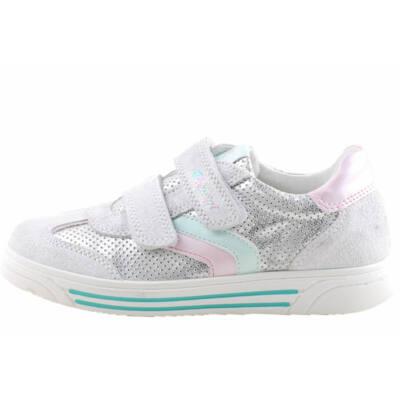 Ezüst, almazöld-rózsaszín díszítésű, Primigi cipő