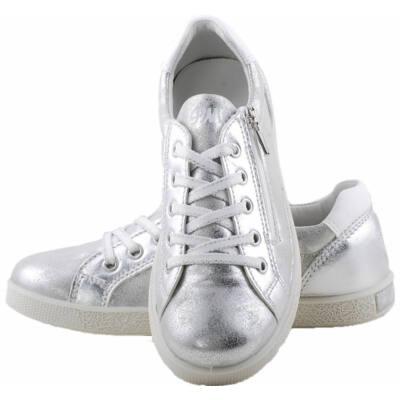 Ezüst, cipzáras, fűzős, Primigi cipő
