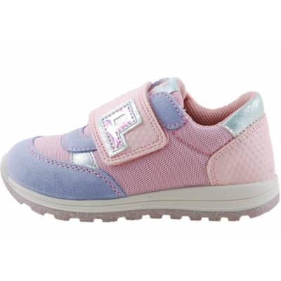 Rózsaszín-kék-ezüst, hajlékony talpú, Primigi edzőcipő