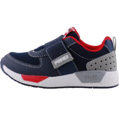 Kék-piros, vastag gumipántos, Primigi edzőcipő