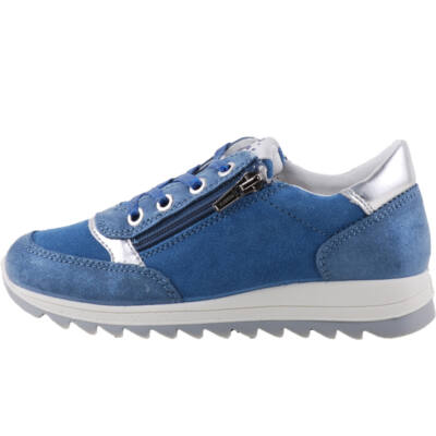 Kék-ezüst, fűzős-cipzáras, Primigi cipő