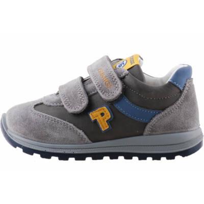 Szürke-kék-mustár, Primigi logo-s, bőr cipő