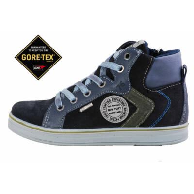 Primigi vízálló Gore-tex, fekete-szürke, cipzáras-fűzős cipő
