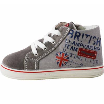 Primigi szürke angol zászlós, cipzáras átmeneti cipő