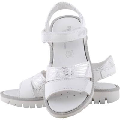Fehér-ezüst, lábszélességre állítható, kislány, Primigi szandál