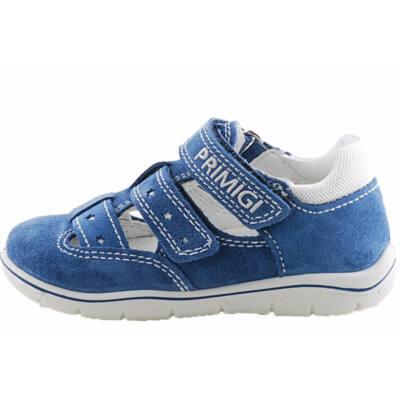 Kék, csillagos, extra hajlékony talpú, bőr, nyitott Primigi cipő