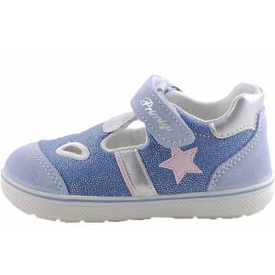 Csillogós kék, rózsaszín csillagos, Primigi szandálcipő