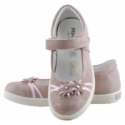 Barna-rózsaszín, csillogó virágos, Primigi, tavaszi cipő