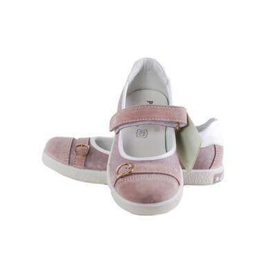 Primigi krém-rózsaszín mintás pántos balerina