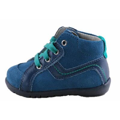 Kék-zöld fűzős, kisfiú, Richter tanulócipő