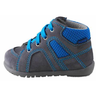 Szürke-kék, extra puha talpú, Richter tanulócipő