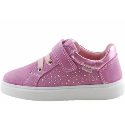 Rózsaszín, flitteres, gumi főzős, tépőzáras, Richter cipő
